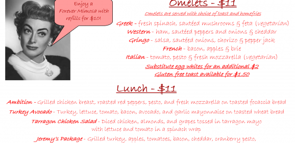 Ambition's Mother's Day Brunch Menu is Here!